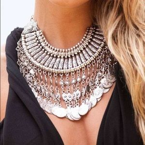 Antique inspired Turkish coin necklace